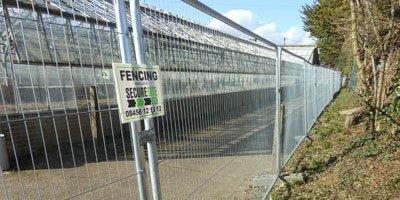heras fencing for vacant properties