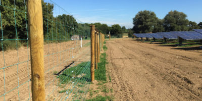 Solar farm perimeter fencing