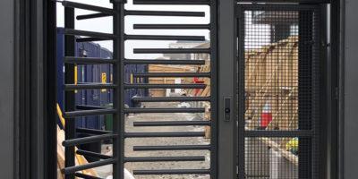 Construction site turnstile