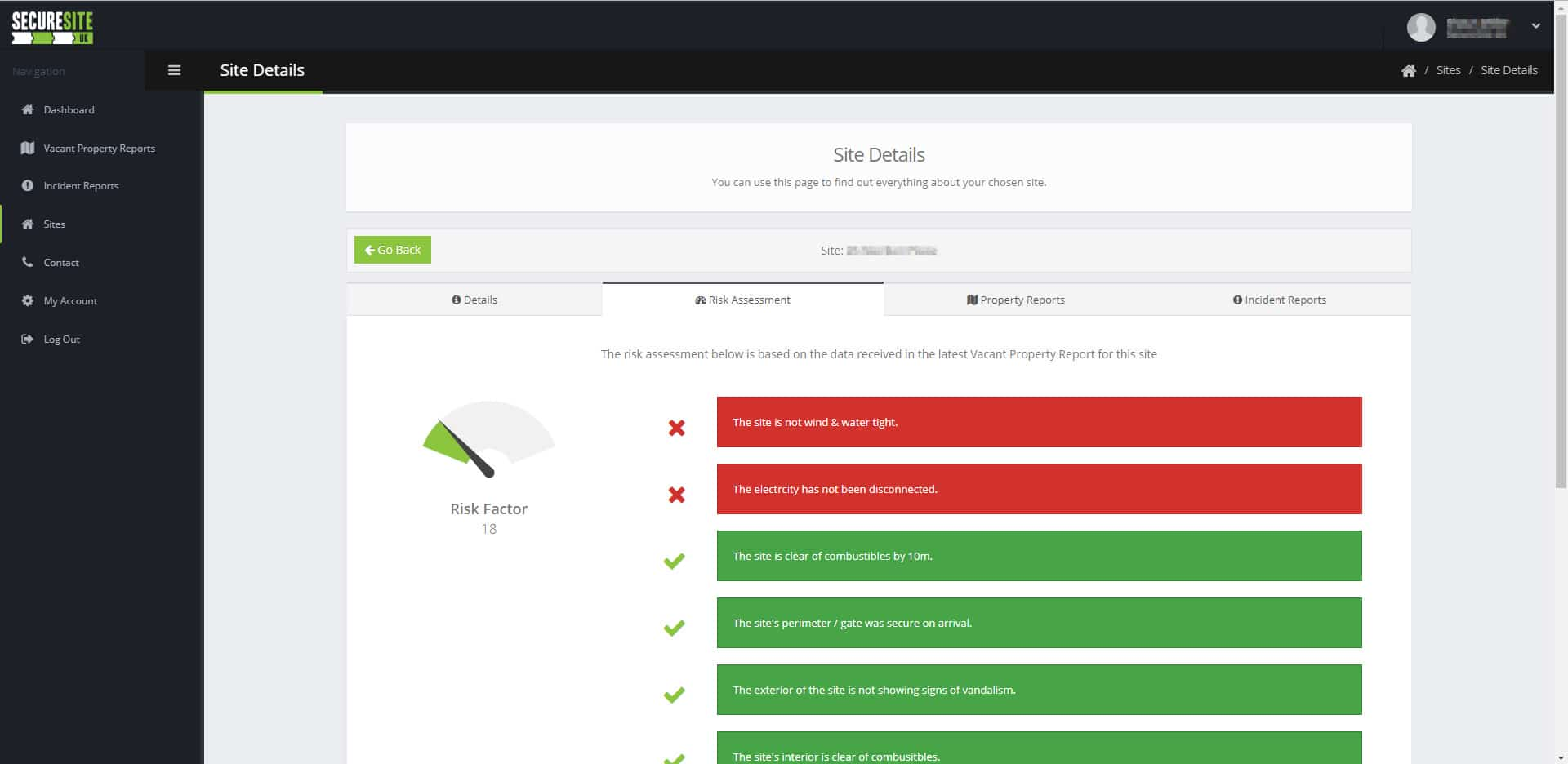Vacant property inspection client portal